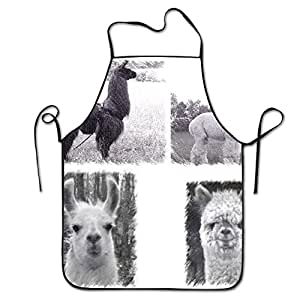 Llama Vs Alpaca Bib Apron For Women And Men - Adjustable Neck Strap - Restaurant Home Kitchen Apron Bib For Cooking, Grill And Baking, Crafting, Gardening, BBQ