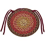 IHF Home Decor 15 Inch Chair Cover Pads Round Jute Braided Rug Set of 4 New GINGER Design