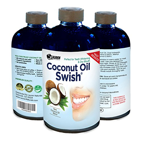 photo Wallpaper of Lauren Naturals-Coconut Oil Pulling And Mouthwash: Excellent For Teeth Whitening, Dry Mouth, &-