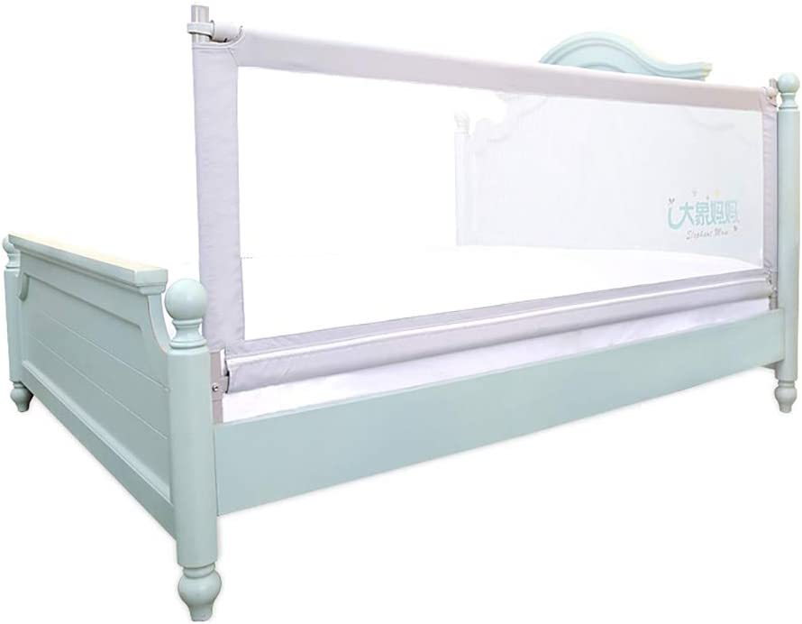 1 side 58Lx27H Bed Rails for Toddlers Extra Long Twin Full Queen King Size Baby Infants Safety Guardrail with Reinforce Anchor Safety System