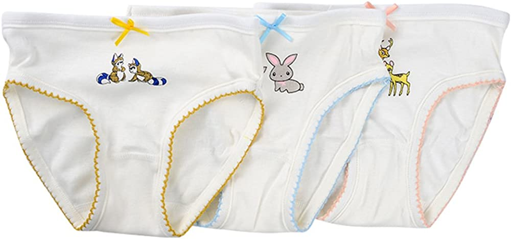 Kidear Kids Series Comfy Cotton Baby Underwear Little Girls Assorted Briefs Panties with Bow-Knot