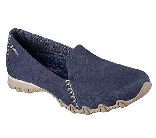 Bikers Slip On Skechers Womens Loafers Navy Smokin Fit Relaxed 1wWEqZE6F