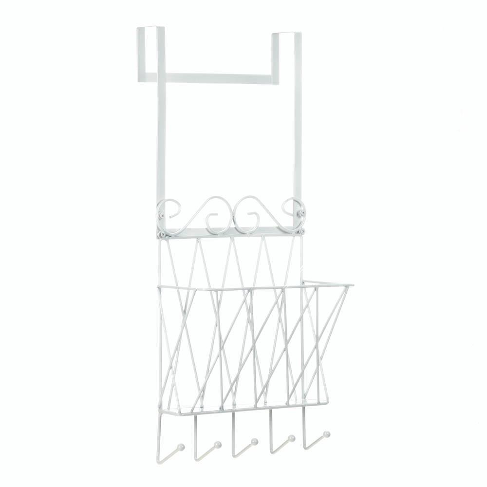 Accent Plus Over Door Rack, Bedroom Bathroom Hanging Over-Door Storage Organizer with Hooks