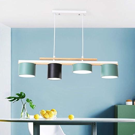 HYLH Diseñador Moderno Macaron LED Lámpara Colgante Mesa Comedor ...