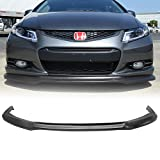 Front Bumper Lip Fits 2012-2013 Honda Civic | Black PU Front Lip Finisher Under Chin Spoiler Add On by IKON MOTORSPORTS