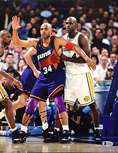 Charles Barkley Signed 11x14 Basketball Photo *Phoenix Suns Beckett BAS C17337 by Sports Collectibles