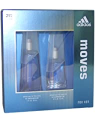 ADIDAS MOVES by Adidas for Women EAU DE TOILETTE SPRAY 1.0 OZ & EAU DE TOILETTE SPRAY .5 OZ