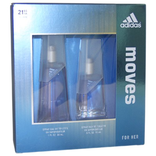 ADIDAS MOVES by Adidas for Women EAU DE TOILETTE SPRAY 1.0 OZ & EAU DE TOILETTE