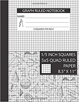 graph ruled notebook 5 squares per inch 8 5 x 11 graph paper