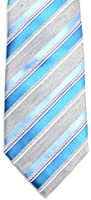 Geoffrey Beene Mens Necktie Not So Basic Stripe Blue