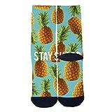Fruits Pineapple PosterTube Socks Skateboard Sports Socks Street Fashion Socks Hip Hop Street Sport Socks Black