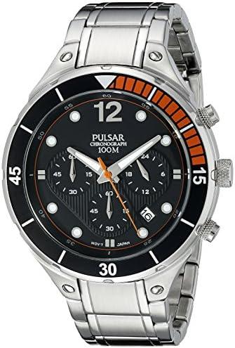 Pulsar Men s PT3635 Analog Display Analog Quartz Silver Watch
