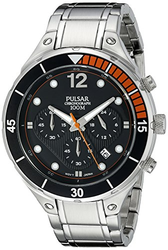 Digital Analog Pulsar - Pulsar Men's PT3635 Analog Display Analog Quartz Silver Watch