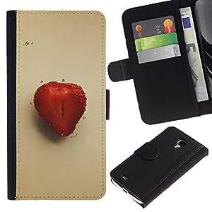 Stuss Case / Funda Carcasa PU de Cuero - Juicu fresa - Samsung Galaxy S4 Mini i9190
