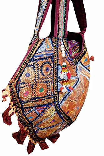 banjara mirror zari embroidery New bag work Indian vintage shoulder BG53 designer qx7n7FgP
