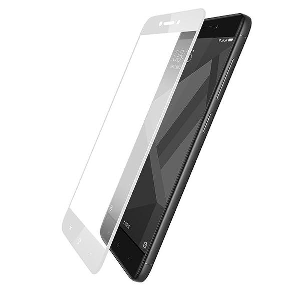 Vidrio Templado Xiaomi Redmi 4X Protector Pantalla Premium de Cobertura Completa con Bordes Redondeados 2.5D, Protector Cristal Templado para Xiaomi Redmi ...