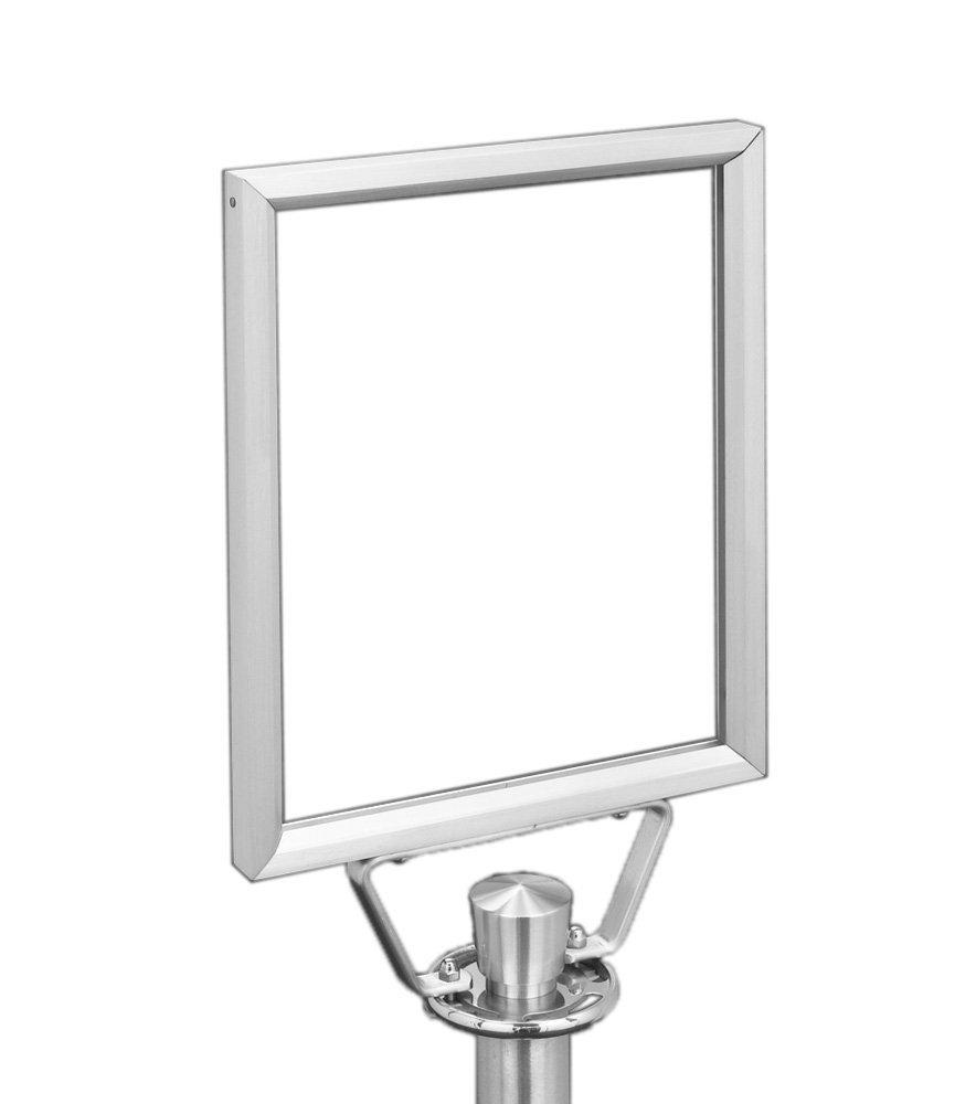 Glaro F42822-SA Double Sided Floor Standing Sign Frame - Satin Aluminum Finish - 28'' x 22'' - Portrait Orientation