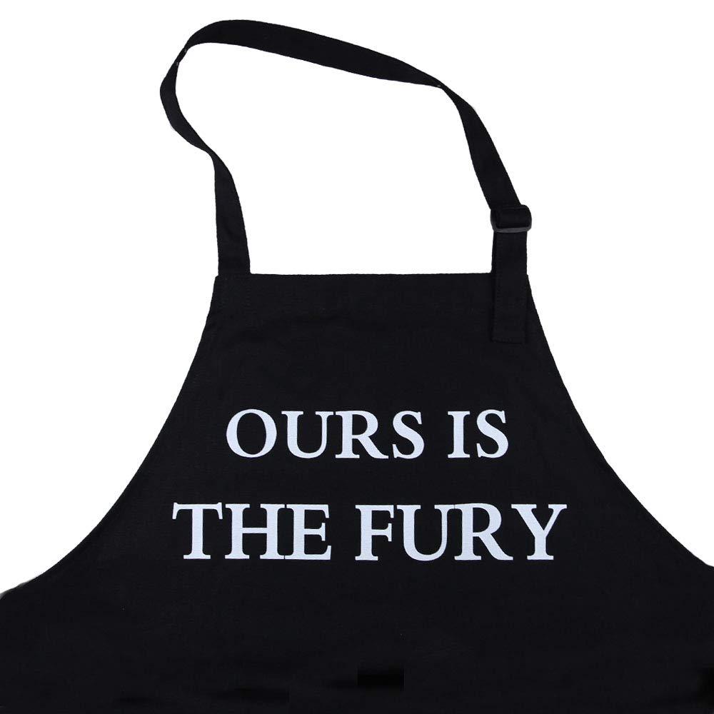 Funny Apron BBQ Chef Aprons for GOT Fans House Targaryen Adjustable for Men Women BBQ Baking Cooking 2 Pockets Dragon