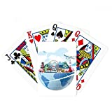 Travel Journey Japan Fuji Sakura Plane Poker Playing Cards Tabletop Game Gift