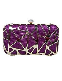 Fawziya Glitzy Rhinestone Clasp Box Evening Clutch Handbag