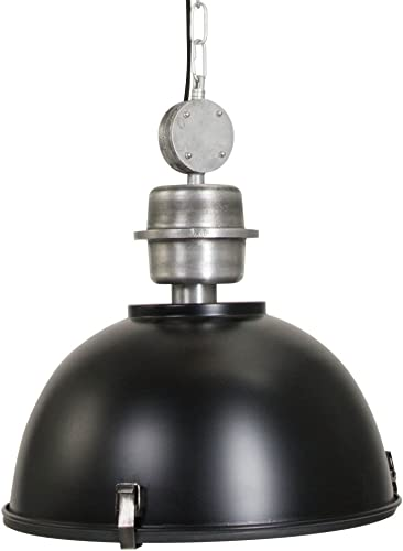 120V Italian Designed Hanging Industrial Pendant Black