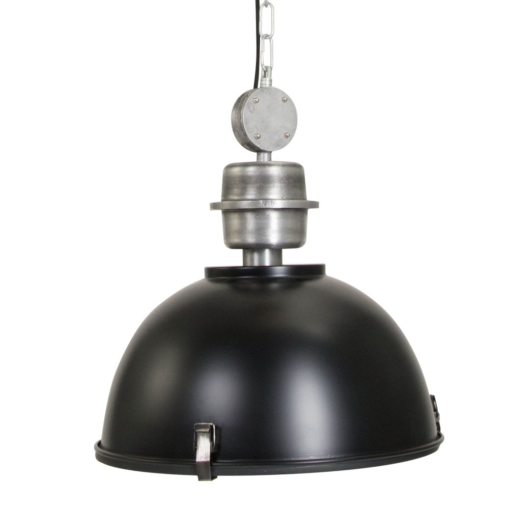 120V Italian Designed Hanging Industrial Pendant (Black) by AQL (Image #1)