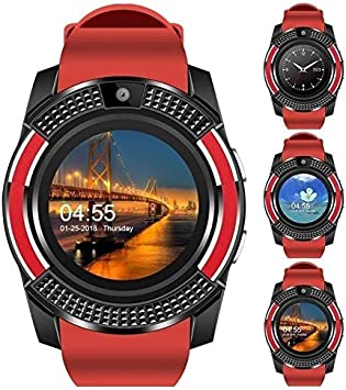 QWERTYU LIFUQIANGME Nieuwe Mannen 'S En Vrouwen ' S Ranura Deporte de la Manera Inteligente Reloj Met Muziekspeler Reloj Teléfono Móvil de Met Sim Mapa El GPS (Kleur : Red)