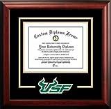 """NCAA South Florida Bulls Spirit Diploma Frame, 8.5 x 11"""", Mahogany"""