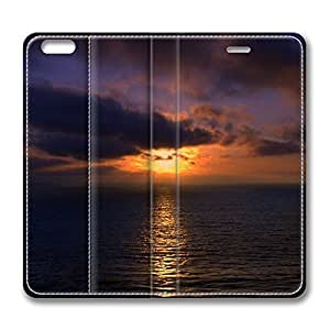 Beach Scene Sunset 5 iPhone 6 Plus 5.5inch Leather Case, Personalized Protective Slim Fit Skin Cover For Iphone 6 Plus [Stand Feature] Flip Case Cover for New iPhone 6 Plus by Maris's Diary