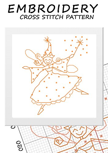 Embroidery patterns simplicity cross stitch fairy tooth Yellow fairy halloween decorations Tooth fairy art Princess fairy decoration for kids Mini fairy ballet United in love cross stitch girls (Halloween Fairy Cross Stitch Pattern)