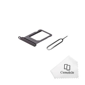 Cemobile - Soporte de Ranura para Tarjeta SIM con Anillo de Goma Resistente al Agua para iPhone 8 DE 4,7 Pulgadas + Bandeja para Tarjeta SIM
