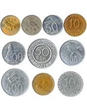 10 Collectible Coins from South and North America, Europe, Asia, Africa, Middle East. All World Coins Sets