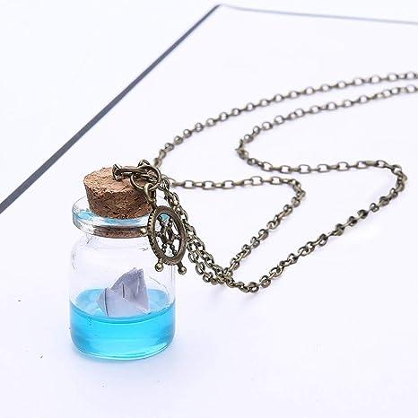 Mypace Colgante de oro y plata 925 para mujer, papel de agua de ...