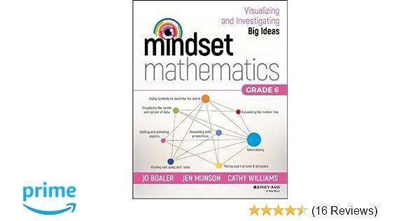 Amazon com: Mindset Mathematics: Visualizing and