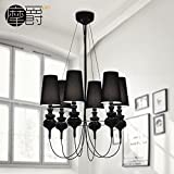 Leihongthebox Guard 6 Pendant Ceiling Lighting and antique works after Spain modern iron chandelier C,7055cm LED