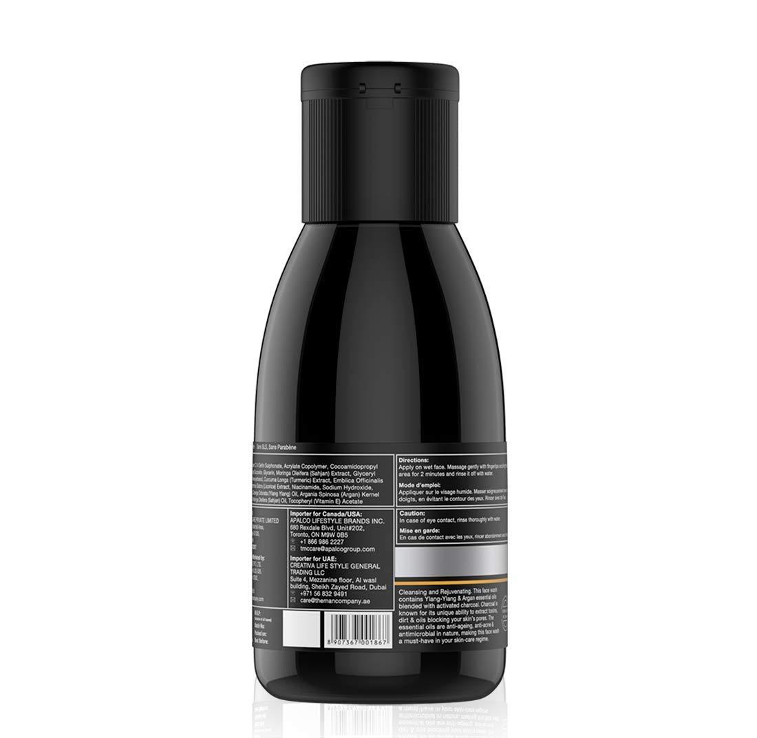 The Man Company Charcoal Face Wash, Ylang-Ylang and Argan Essential Oils,  100ml