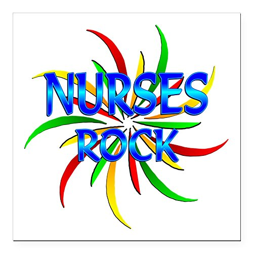 CafePress - Nurses Rock Square Car Magnet 3