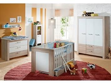 Babyzimmer Ben 6 Teilig Eiche Sagerau Weiss Amazon De Baby