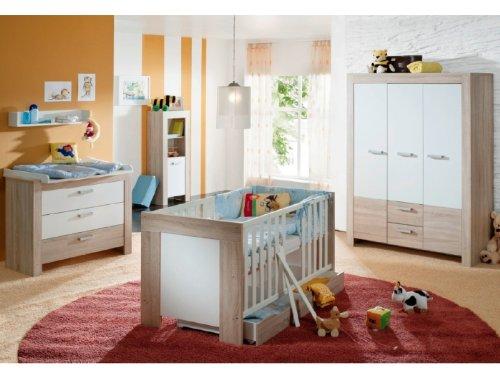 Babyzimmer Ben 6-teilig, Eiche-sägerau/ Weiss