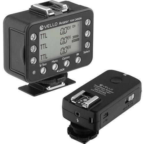 Vello FreeWave Aviator 1-Transceiver 1-Receiver Kit for Canon E-TTL / E-TTL II Flashes by Vello