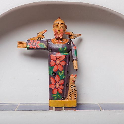Altiplano San Francisco Patron Saint of Animals Hand Carved Wood Saint