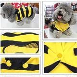 Vktech® Dog Cat Pet Supplies Lovely Bumble Bee Dress Up Costume Apparel Coat Clothes (10)