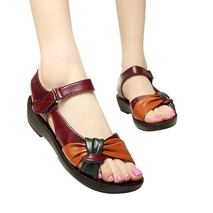 2b60624a3a0c8 Amazon.com: Sandals for Women Bummyo Women'S Sandals Flat Wedge ...