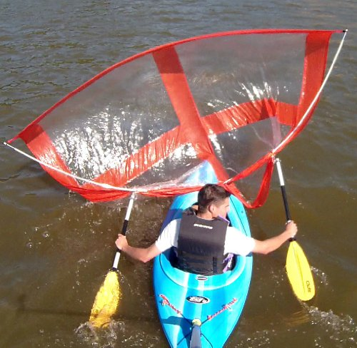Sailskating-LLC-Downwind-Super-Kayak-Sail-Kit-Orange-Compact-Portable-Easy-Set-up-and-Deploys-Quickly-Start-Sailing-This-Season