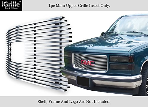 APS Compatible with 1994-1999 GMC Yukon Suburban Pickup Stainless Steel Billet Grille S18-C41756G