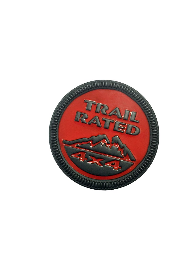 The Metal Sticker Trail Rated 4x4 Black Red Vehicle-badge Logo Emblem for Jeep Available Dian Bin