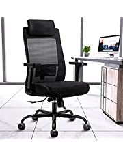 DAVEJONES Ergonomic Office Chair - Computer Desk Chairs High Back with Lumbar Support, 3D Adjustable Arms