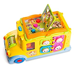 ToyThrill Developmental Yellow School Bus Toy- 8 Game Functions, Automatic Ride, Lights & Music & Swinging Little People: Best Educational Learning Christmas Gift for Baby, Toddlers & Kids Ages 1+ Yr by ToyThrill that we recomend personally.