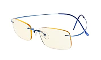 59a8a217ed8 Image Unavailable. Image not available for. Color  Eyekepper Titanium  Rimless Computer Reading Glasses Readers Women ...