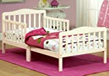 Toddler Bed - Solid Wood, French White